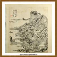 王时敏杜甫诗意图) (10)