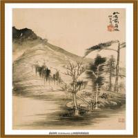 52-清-石涛-山水花卉八开-08-画
