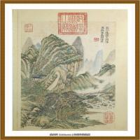 王时敏杜甫诗意图) (2)