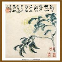 石涛花鸟册 (1)