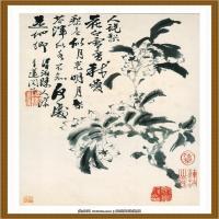 石涛花鸟册 (7)