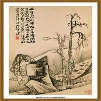 52-清-石涛-山水花卉八开-01-画
