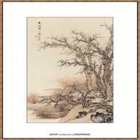 近现代 陈少梅-寒林图 纸本