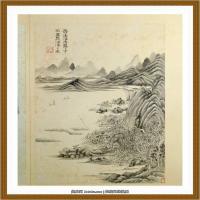 王时敏杜甫诗意图) (8)