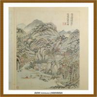 王时敏杜甫诗意图) (12)