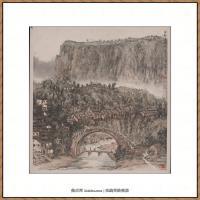 李可染-1954万县渡桥
