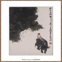 李可染-1985林茂鸟竞归2