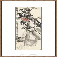 吴昌硕-石榴图纸