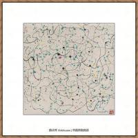 吴冠中抽象画作品图片 (56)