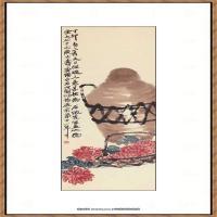 近现代齐白石-祝寿图