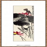 齐白石-荷花水墨纸本3