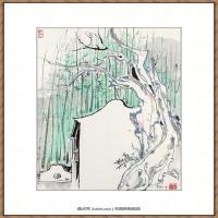 吴冠中抽象画作品图片 (57)