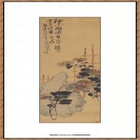 吴昌硕-葡石图纸本34
