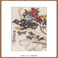 吴昌硕-珊瑚珠图纸本4