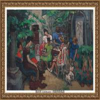 潘玉良-天井庭院的聚会