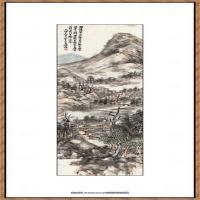 吴昌硕  -山水图
