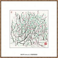 吴冠中抽象画作品图片 (2)