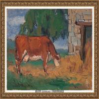 潘玉良-吃草的母牛