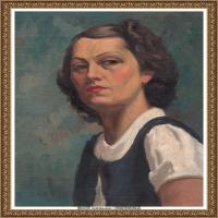 潘玉良-冷酷女人肖像-