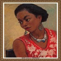 潘玉良-戴银饰的黑女郎