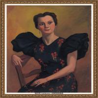 潘玉良-妇人肖像-2