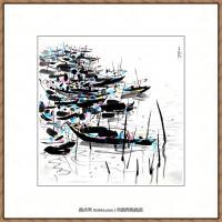 吴冠中抽象画作品图片 (9)