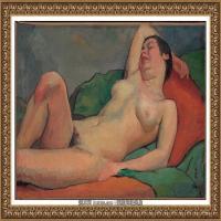 潘玉良-枕臂而睡的裸女-2