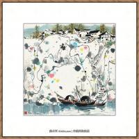 吴冠中抽象画作品图片 (53)