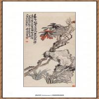 吴昌硕-松柏图纸本46