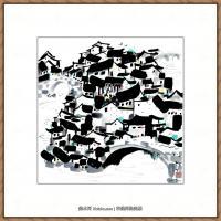 吴冠中抽象画作品图片 (28)