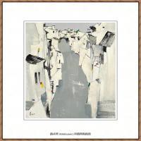 吴冠中抽象画作品图片 (6)