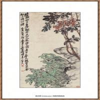 吴硕昌-天竹为花图