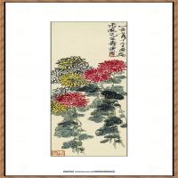 近现代齐白石-菊花图纸本3