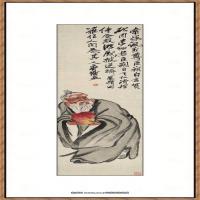 齐白石-东方朔偷桃图