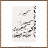 齐白石-墨虾图