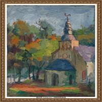 潘玉良-秋天的教堂