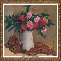 潘玉良-白色花瓶中的群花-
