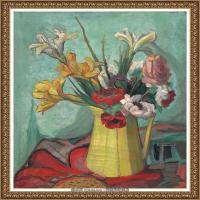潘玉良-美人蕉和黄花瓶