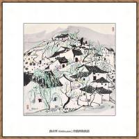 吴冠中抽象画作品图片 (46)