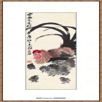 近现代齐白石-全家福纸本3