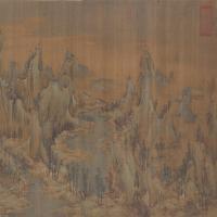 赵伯驹江山秋色图卷-北宋-山水