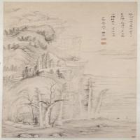 杨文骢仙人村坞图轴-明朝-人物