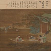 仇珠女乐图轴-明朝-人物