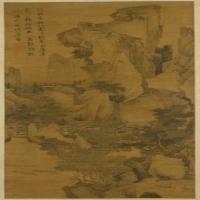 唐寅钱塘景物图轴-明朝-山水