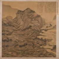 刘珏夏云欲雨图轴-明朝-山水