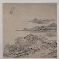 赵左山水图轴(秋林图)-明朝-山水