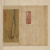 朱瞻基寿星图卷-明朝-人物