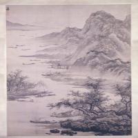 吴伟渔乐图轴-明朝-山水