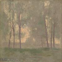 【打印級】YHR131327075-奧迪龍雷東油畫作品高清圖片Odilon Redon Landscape-40M-4500X3124