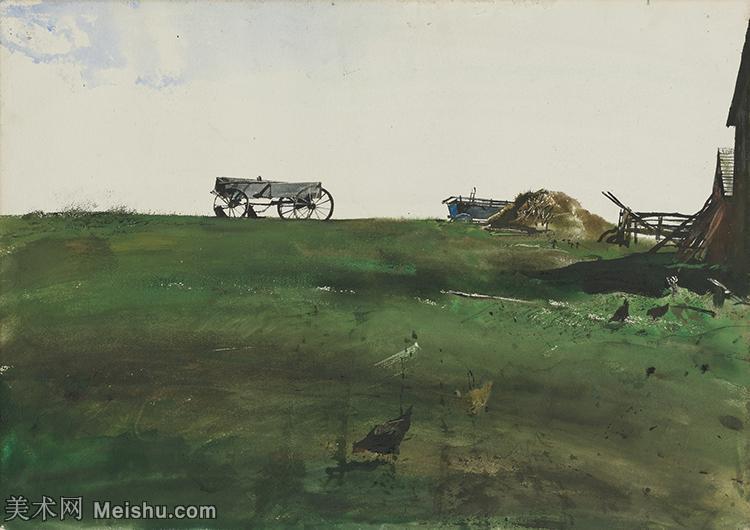 【欣赏级】YHR17130819-美国著名画家安德鲁怀斯AndrewWyeth油画作品高清图片水彩画作品高清大图-8M-